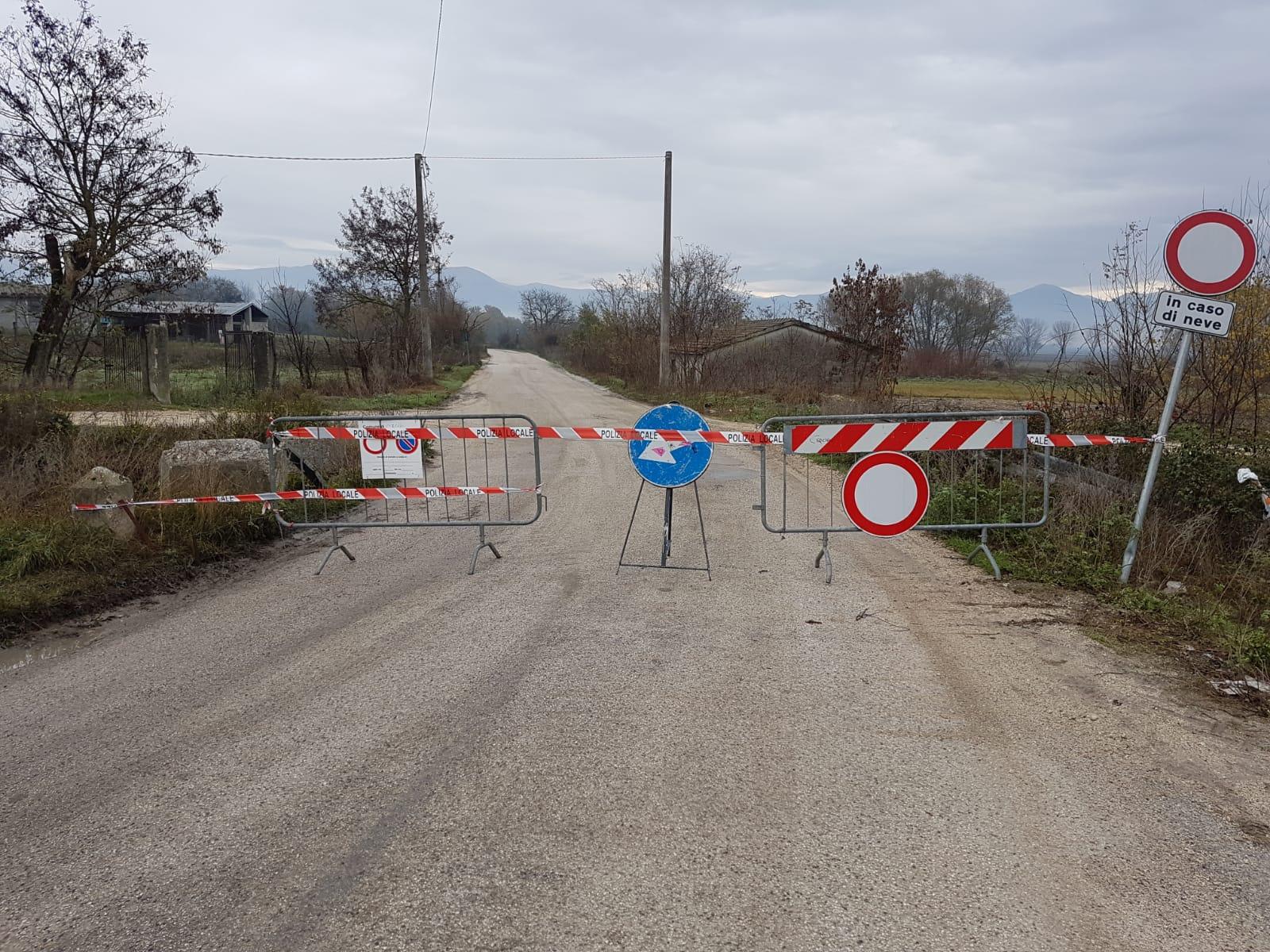 Cerchio, un tratto della circonfucense rimarrà chiuso fino a lunedì per rifacimento manto stradale