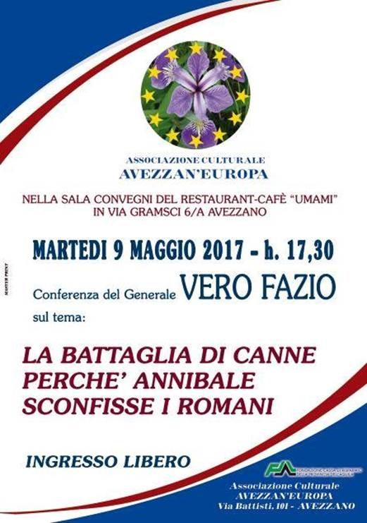 """Conferenza sul tema """"La battaglia di Canne. Perché Annibale sconfisse i Romani"""""""