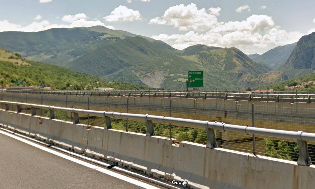Chiusura della rampa di uscita dello Svincolo di Cocullo, limitatamente alla provenienza da A24 Roma/Aquila