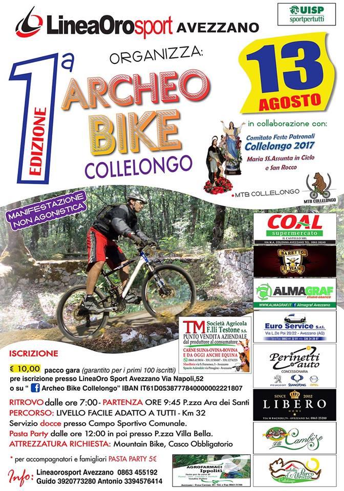 Collelongo, al via la prima edizione della Archeo Bike
