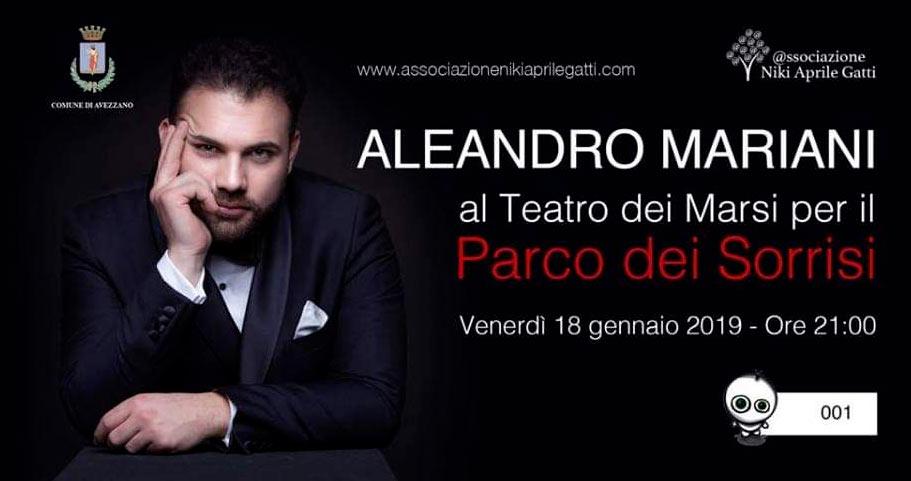 Niki Aprile Gatti onlus, organizza un concerto con il tenore Aleandro Mariani