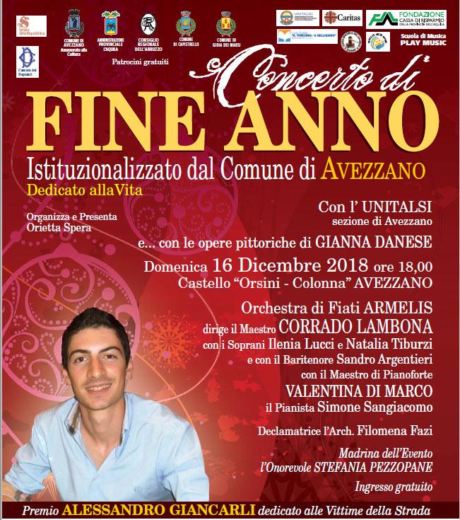 Tutto pronto per il concerto di fine anno Città' di Avezzano