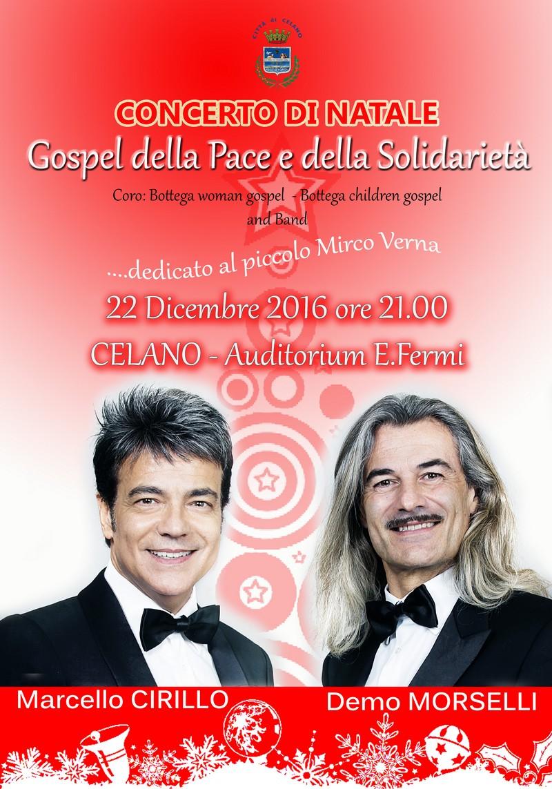Celano, concerto di Natale con Cirillo e Morselli