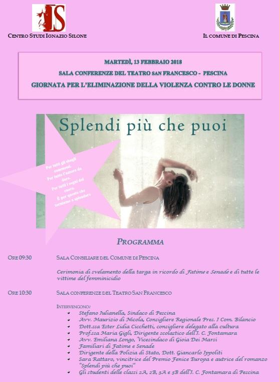 Convegno sulla Giornata per l'eliminazione della violenza contro le donne