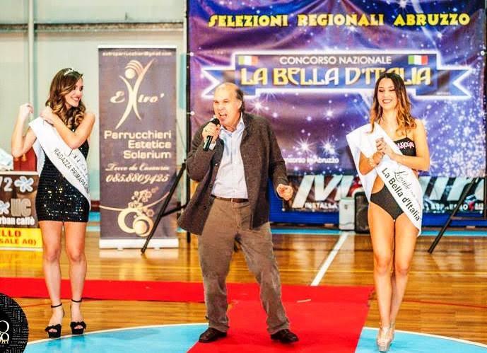 """Claudio Torres di scena ad Avezzano durante il concorso """"La bella d'Italia"""""""