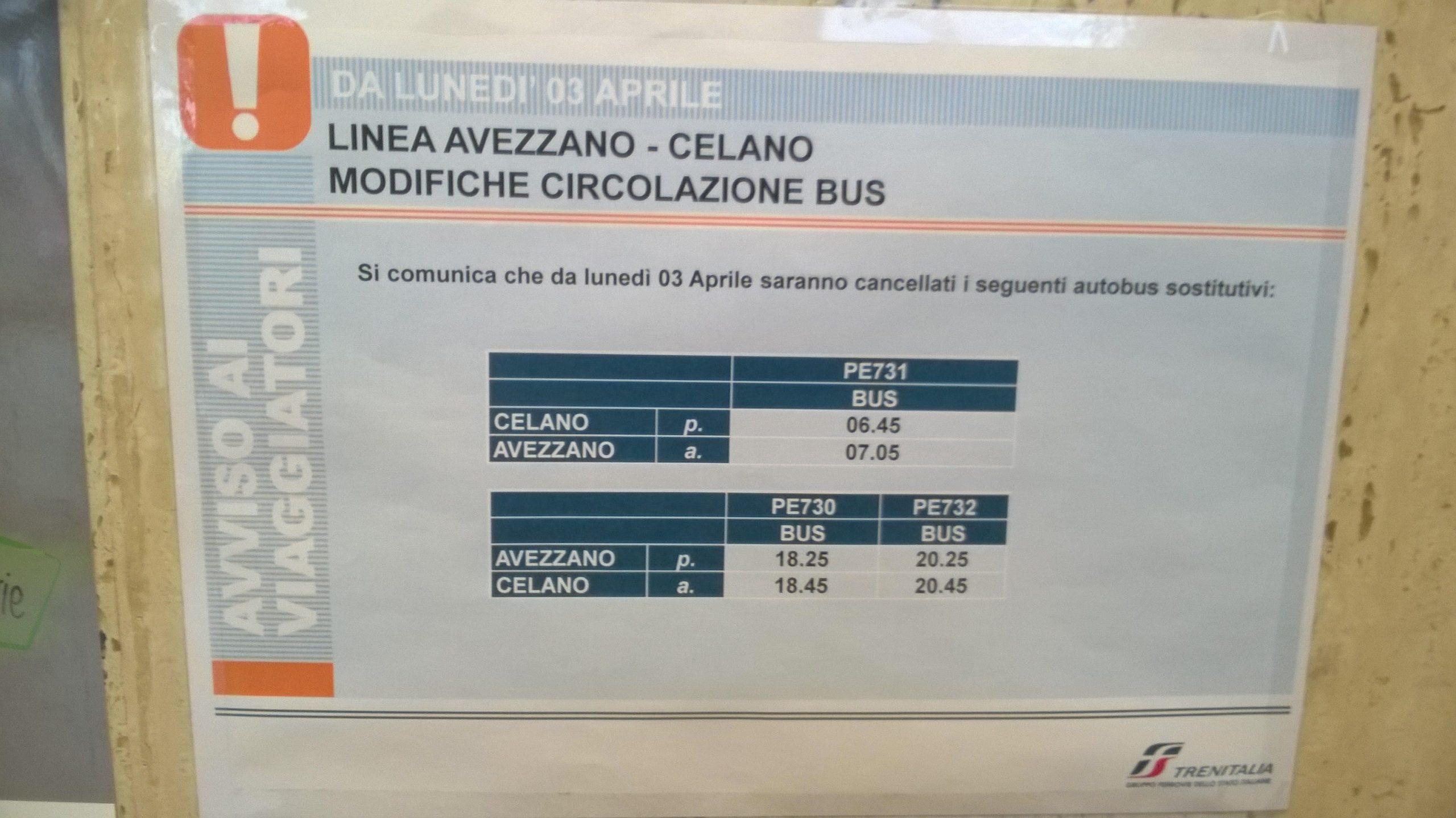 Disagi Trenitalia, i pendolari di Celano, Cerchio e Collarmele scrivono al sindaco Santilli