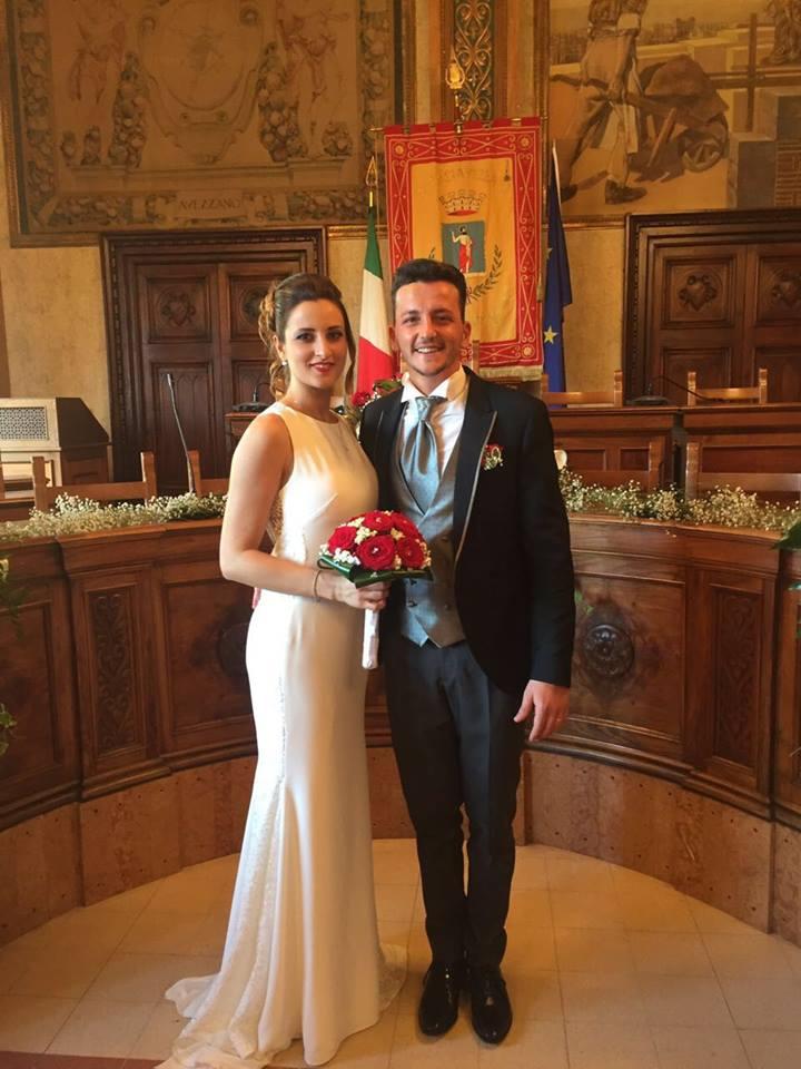"""Stefano e Angela hanno detto """"sì"""" in Comune. Grande festa per il secondogenito del sindaco Di Pangrazio"""