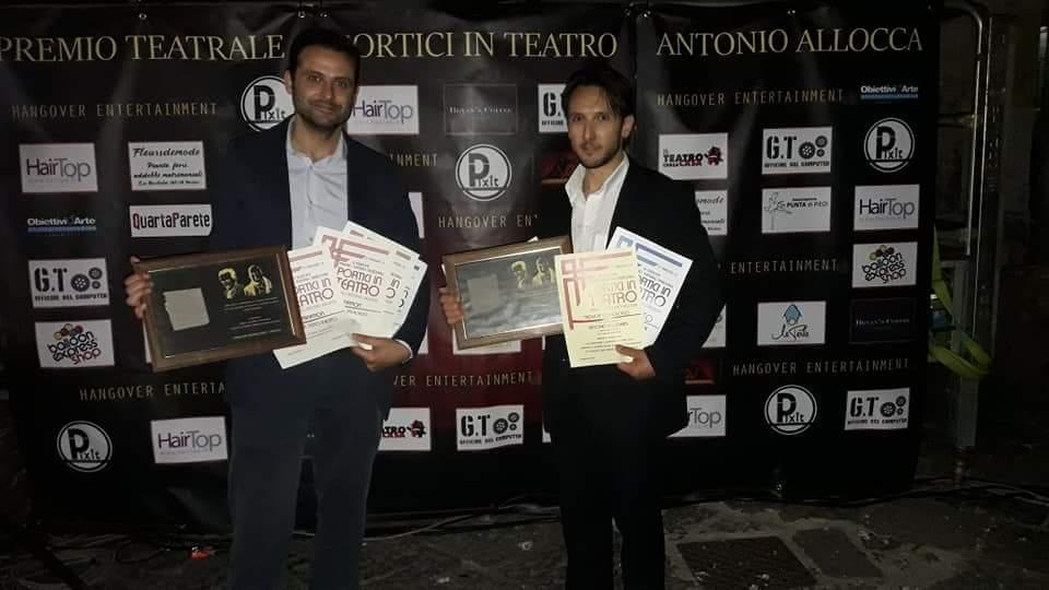 """""""Portici in teatro"""", incetta di riconoscimenti per gli attori marsicani Alessandro Martorelli e Antonio Pellegrini"""
