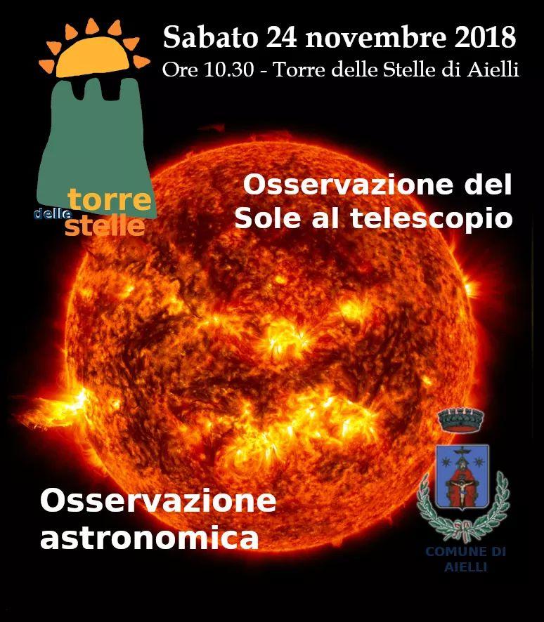 Il sole al telescopio!
