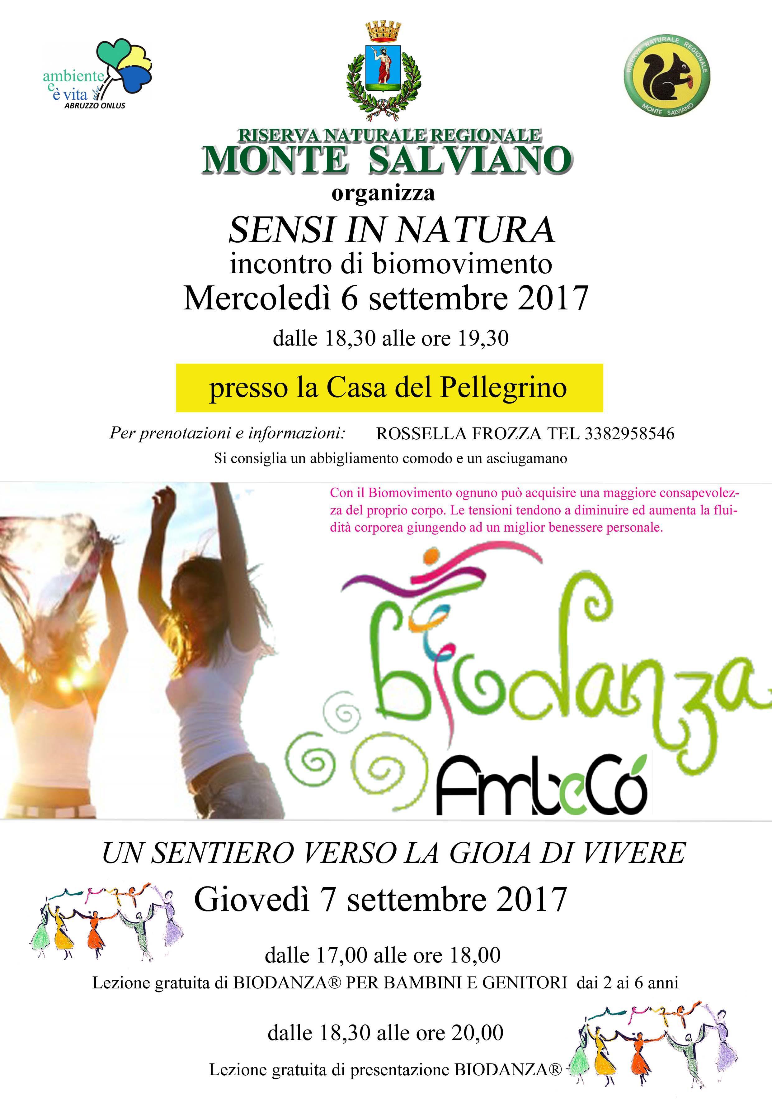 Biomovimento e Biodanza in Riserva