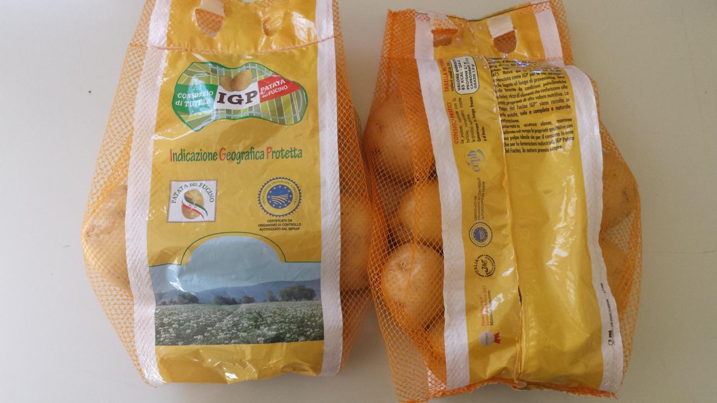 Nuove confezioni delle patate del Fucino Igp