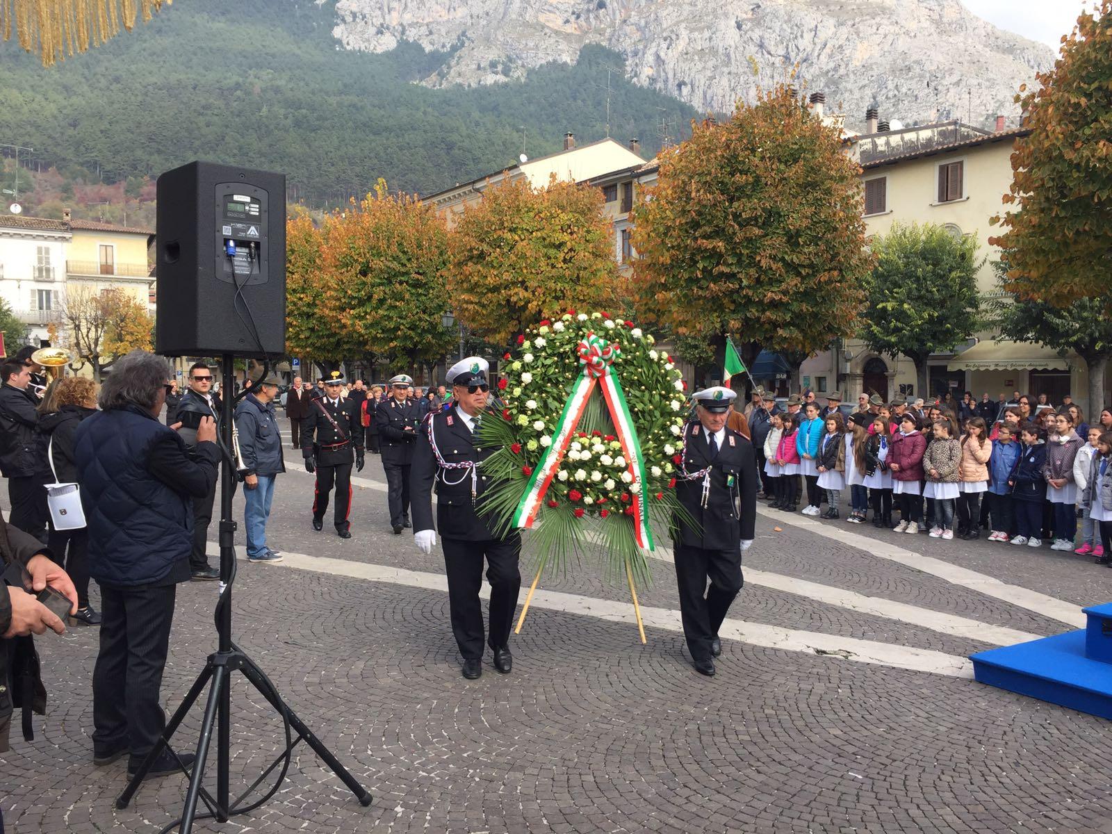 Celano celebra la Giornata dell'Unità Nazionale e delle Forze Armate