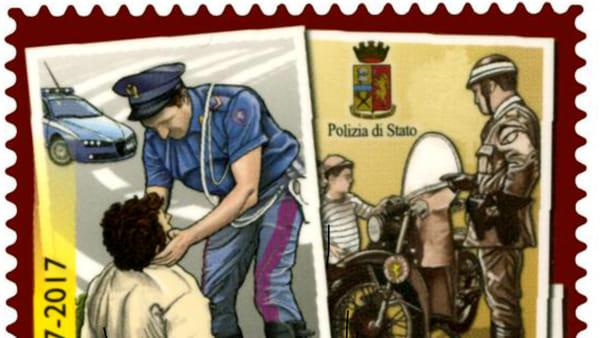 Francobollo e quaderno storico per i settant'anni della Polizia Stradale