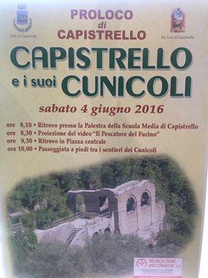 Ai Cunicoli di Claudio con la Pro Loco di Capistrello