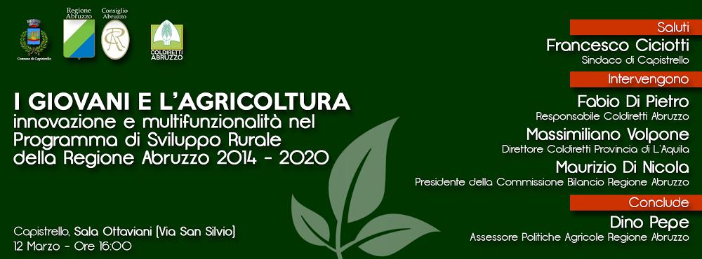 A Capistrello la presentazione del PSR 2014-2020
