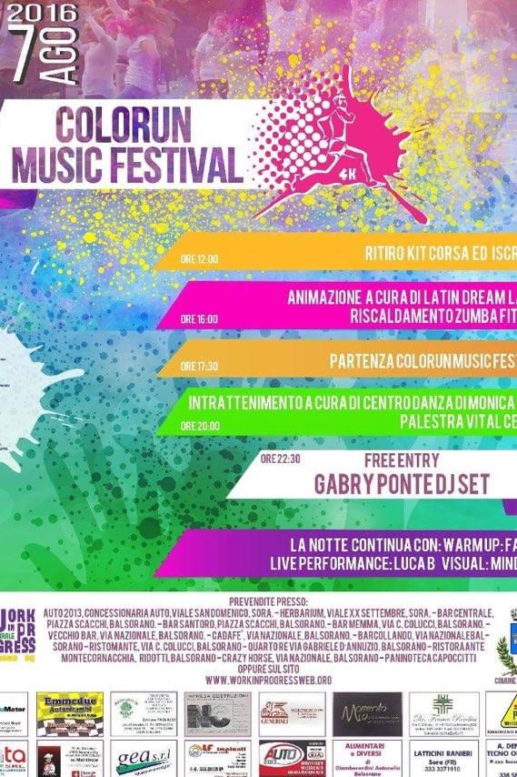 """Al via a Balsorano la prima edizione della """"Color Run Music Festival"""""""