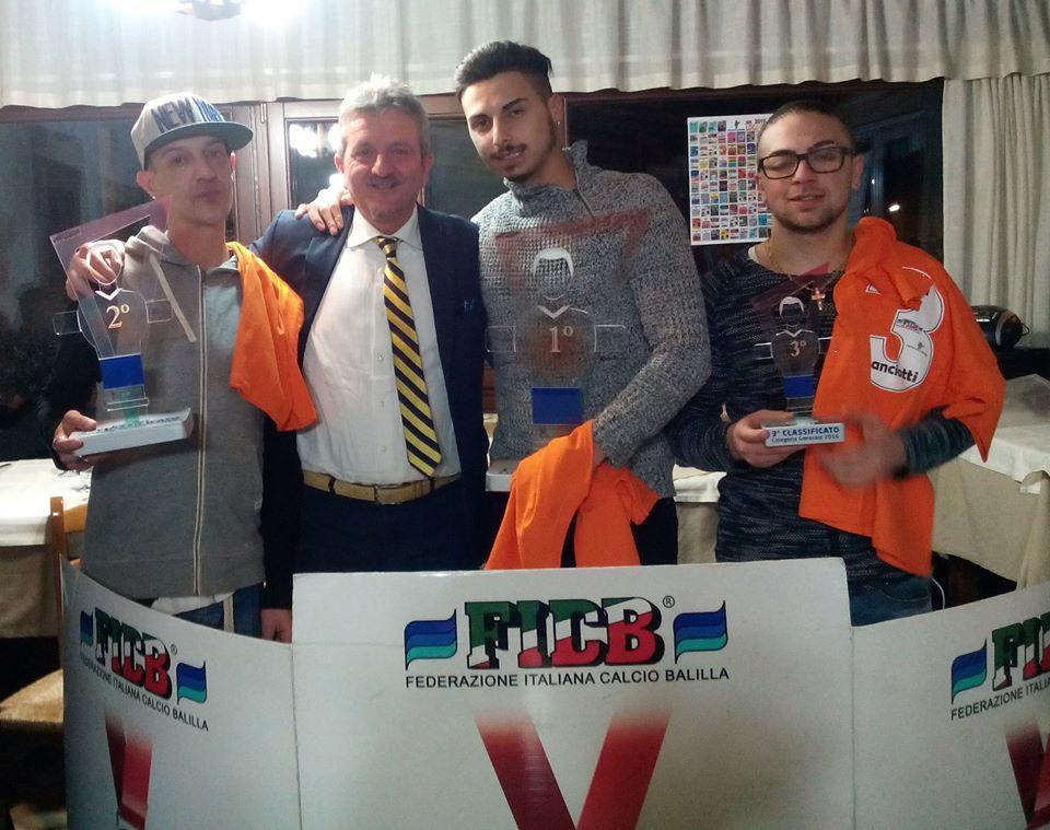 Premiati a Verrecchie i campioni di calciobalilla
