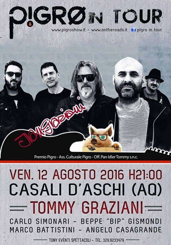 """La band di """"Pigro in tour"""" in concerto a Casale D'Aschi"""