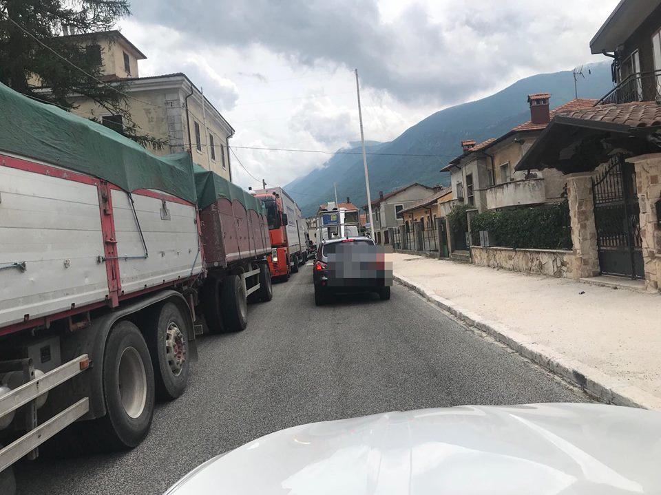 Cade filo dell'alta tensione, chiusa la ex superstrada del Liri tra Capistrello e Canistro