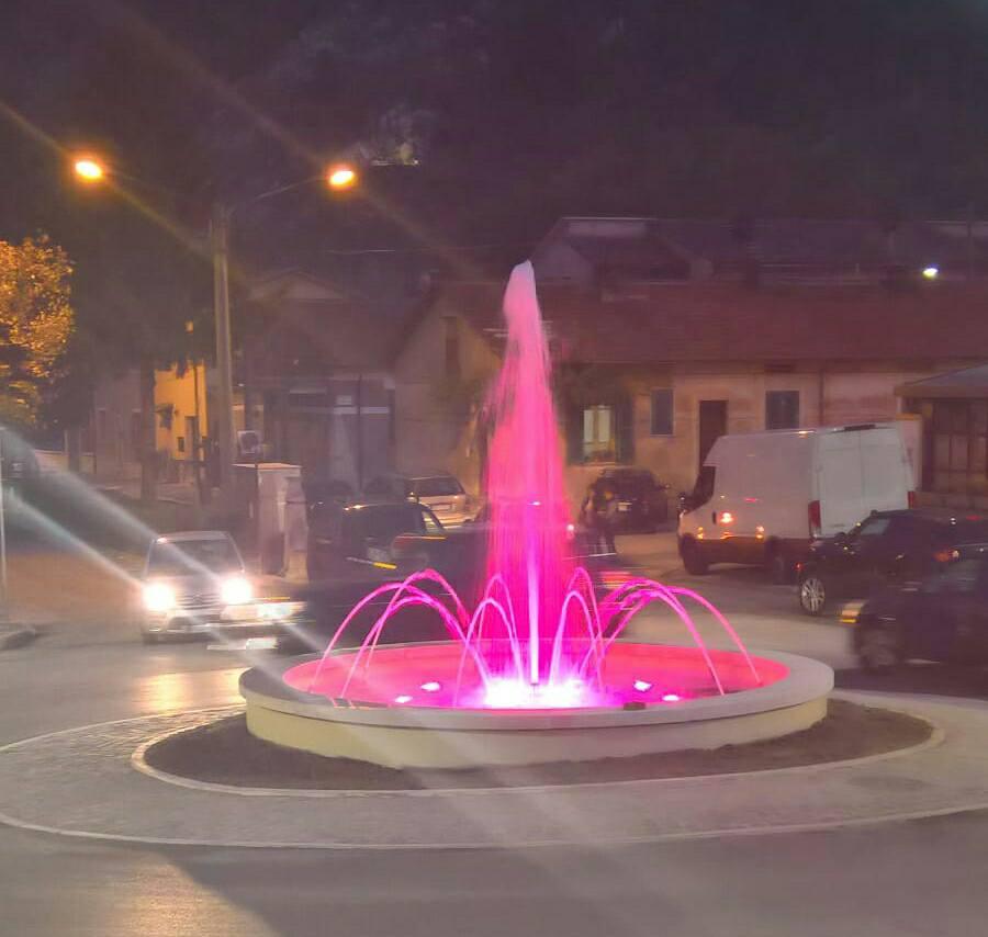 Capistrello, ecco la nuova rotonda su via Roma