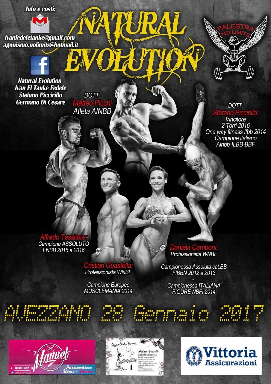"""""""Natural Evolution"""", un incontro per conoscere e scoprire il mondo del bodybuilding"""