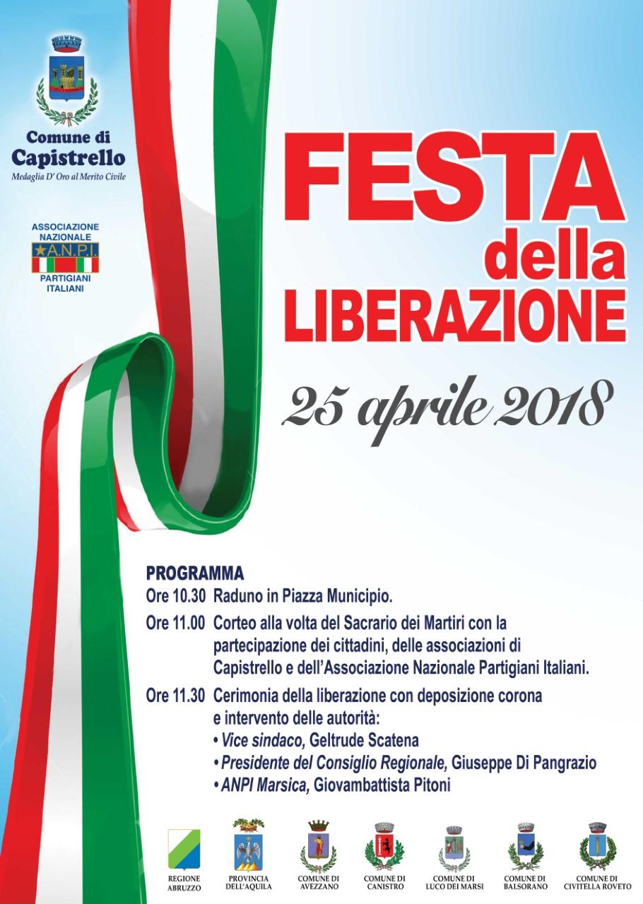 Capistrello celebra il 73°anniversario della Liberazione