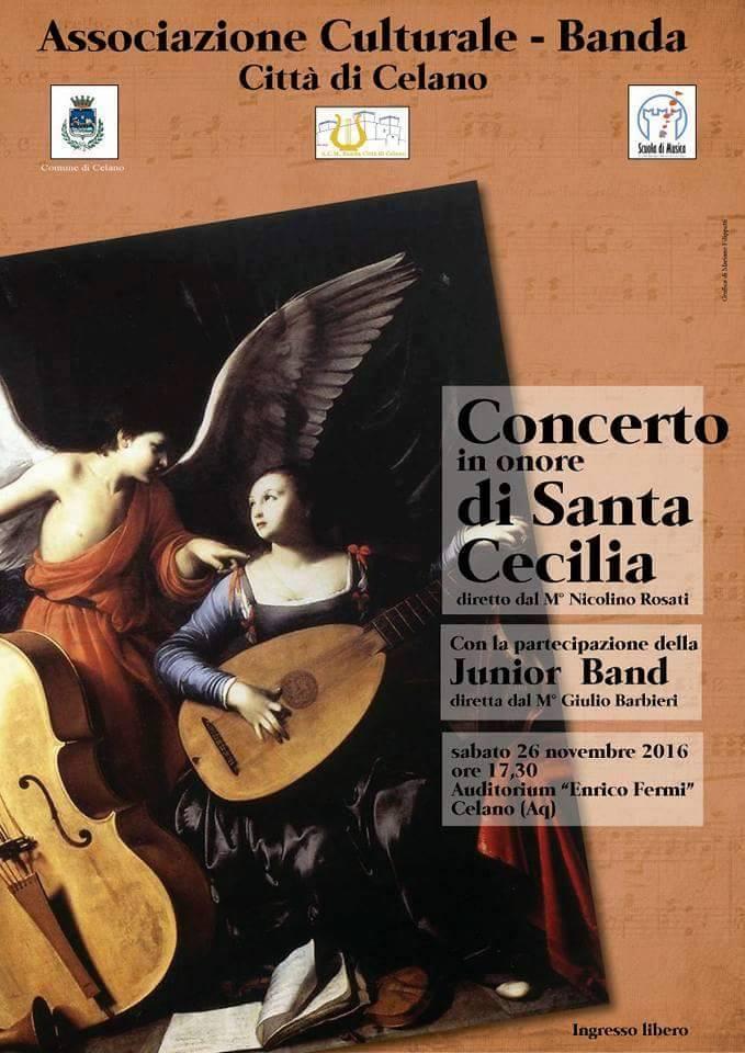 """Celano, la banda festeggia Santa Cecilia """"a suon di beneficenza"""""""