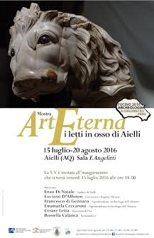 """Al via la mostra """"ArtEterna - I letti in osso di Aielli"""""""