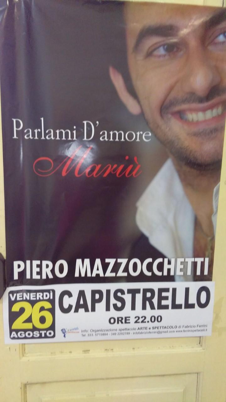 Capistrello, rinviato al 30 agosto il concerto di Piero Mazzocchetti