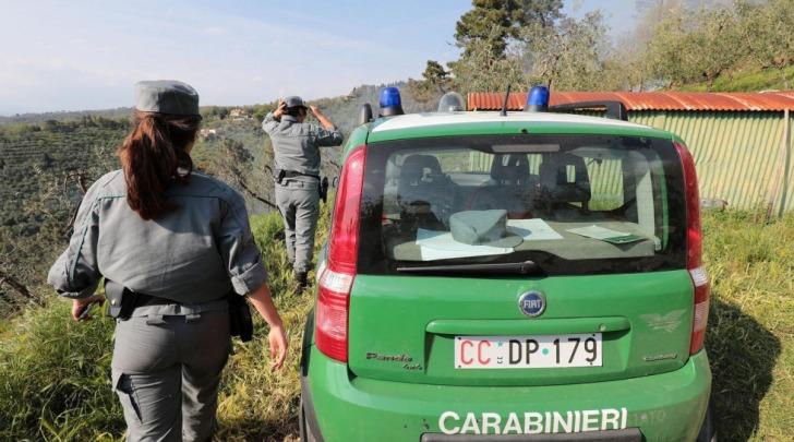 Incendio boschivo a Carsoli, denunciato un anziano del posto