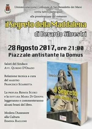 """Questa sera a San Benedetto la presentazione del libro """"Il segreto della Maddalena"""""""