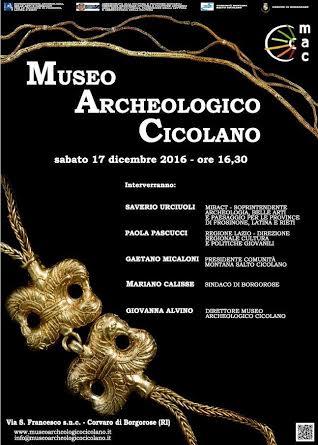 Nasce a Corvaro di Borgorose il Museo Archeologico Cicolano