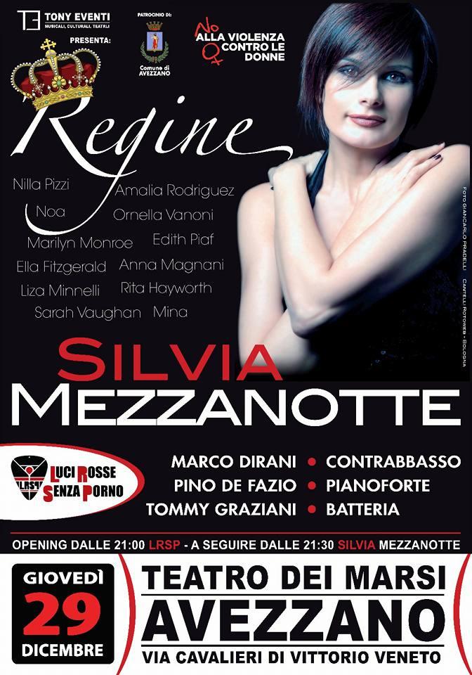 Silvia Mezzanotte al Teatro dei Marsi canta contro la violenza sulle donne