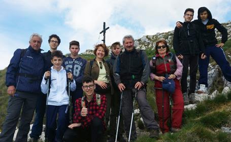 """L'I.I.S. """"E.Majorana"""" sulla vetta del Monte Tino"""