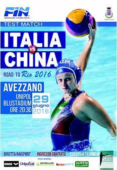 Avezzano ospita Italia/China