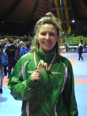 Giorgia Di Cosimo sale sul podio del Campionato Italiano di Karate per rappresentative regionali