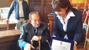 L'avezzanese Eduardo Cavallaro compie 100 anni, ieri la cerimonia in Comune