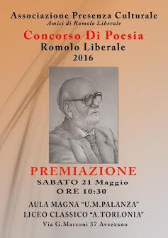 Torna il Concorso di Poesia Romolo Liberale, sabato la premiazione