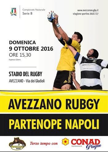 Esordio casalingo per l'Avezzano Rugby contro il Napoli