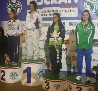 La marsicana Giorgia Di Cosimo conquista il bronzo ai Campionati Italiani di Karate