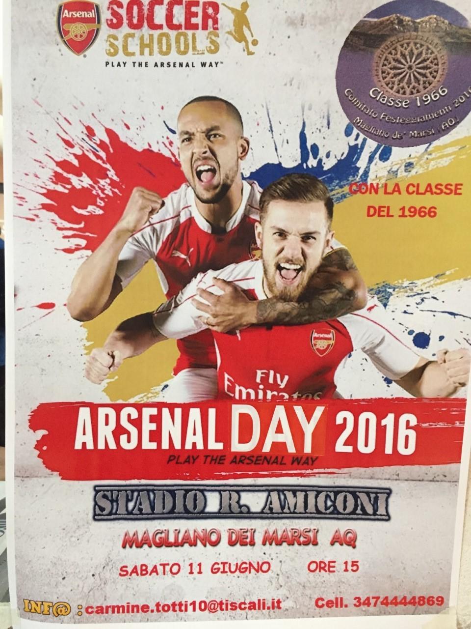 """""""Arsenal Day"""", il progetto giovani dei Gunners arriva a Magliano de'Marsi"""