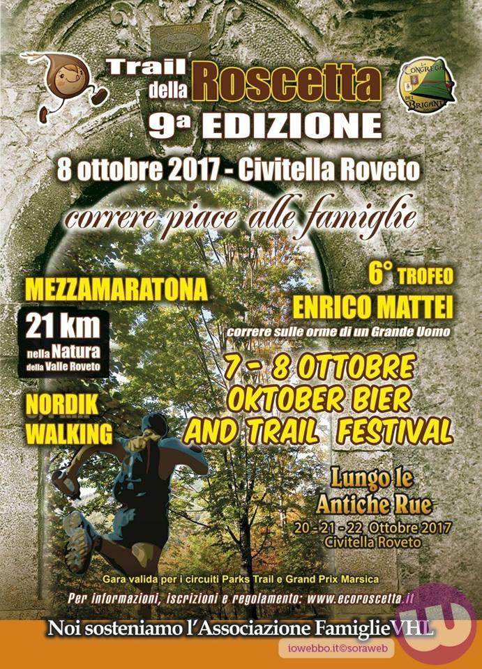 """Torna la IX edizione del """"Trail della Roscetta"""""""