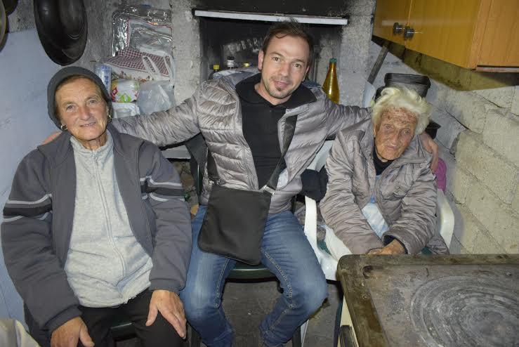 Lucio Perrotta in viaggio da Celano a Ventimiglia per portare aiuto alle famiglie terremotate