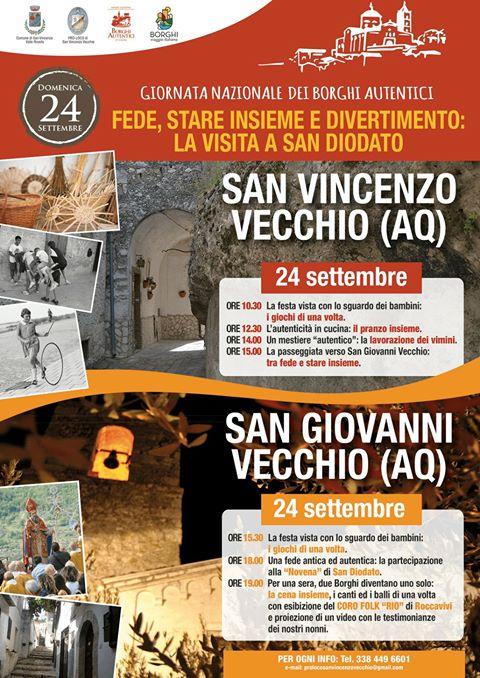 A San Vincenzo Valle Roveto rivive l'antica tradizione della visita a San Diodato