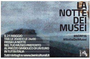 Domani musei aperti fino alle 23 ad un euro
