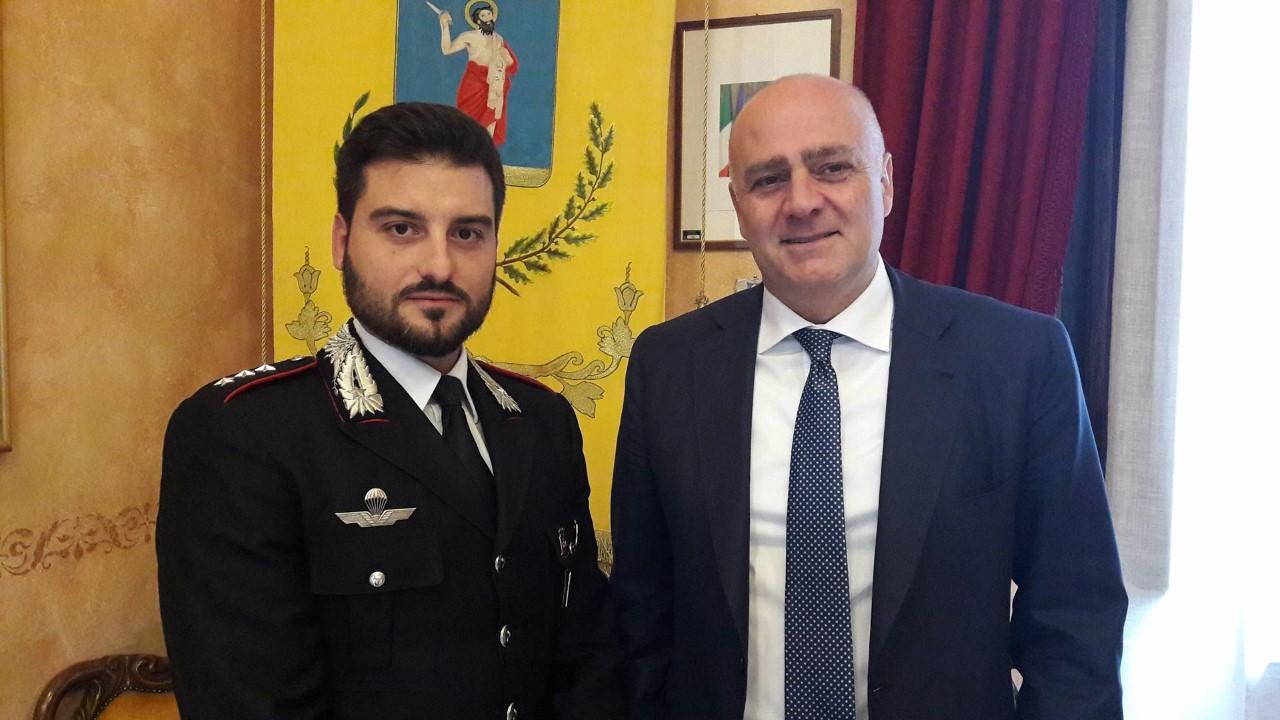 Il capitano dei carabinieri Enrico Valeri lascia la compagnia di Avezzano
