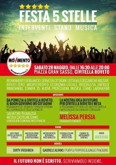Festa Movimento 5 Stelle a Civitella Roveto