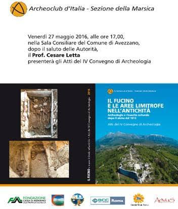 Oggi ad Avezzano la presentazione degli atti del IV Convegno di Archeologia