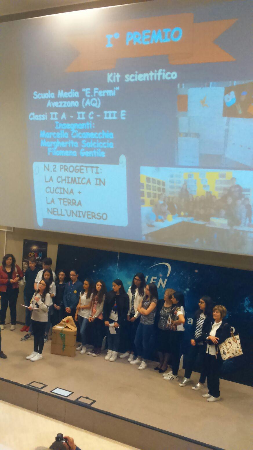 Laboratori del Gran Sasso: primo premio ai ragazzi della scuola E.Fermi di Avezzano