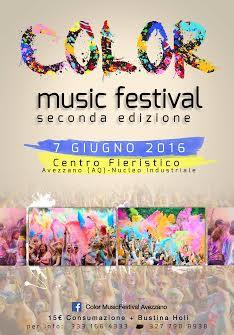 """Al via stasera la seconda edizione del """"Color Music Festival"""""""